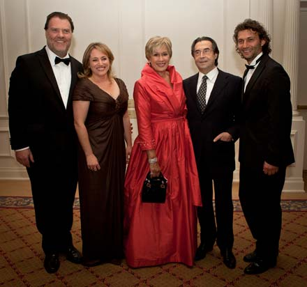 The recipients of the Sixth Annual OPERA NEWS Awards: Bryn Terfel, Patricia Racette, Kiri Te Kanawa, Riccardo Muti and Jonas Kaufmann | © Dario Acosta 2011